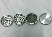Silver Small 1.5 x 1.25 Magnetic 4 piece Metal Herb Tobacco Grinder W/ Free Ship