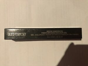 Laura mercier brow Dinension Fibre Infused Colour Gel BNIB Black