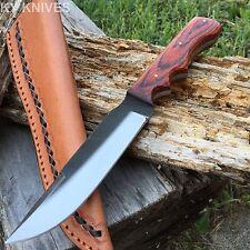 "9.5"" Sawmill File Hunting Knife w/Tooled Leather Sheath Medium Model NEW SM0017"