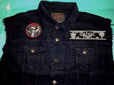 Celtic Frost Black Denim Cut-Off Sleeveless Battle Jacket Waistcoat Vest XS-4XL