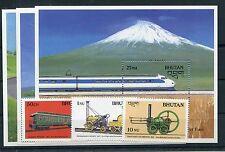 Bhutan 1060 + 1061 + 1069 Block 159 - 161 postfrisch / Eisenbahn .........1/2898
