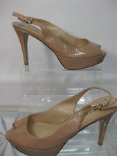 GUESS beige peep toe high heel shoes US 8  UK 5.5