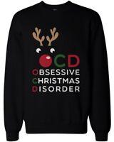 Funny Christmas Sweatshirts - Obsessive Christmas Disorder Black Sweatshirts