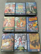 9 Sega Megadrive Spiele - ToeJam & Earl, Story of Thor, Quack Shot, sehr gut!