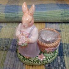 Avon Springtime Collection Mrs. Rabbit Porcelain Candle, Tea Light Holder