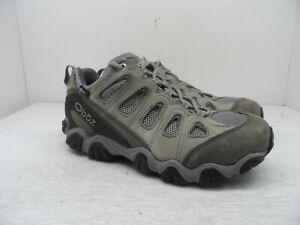 Oboz Women's Sawtooth Low BDry Hiking Shoe Frost Gray/Sage Size 8.5W