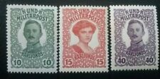 BOSNIA HERZEGOVINA (1918) Set of stamps MNH, YVERT Nº 138-140, Military Post