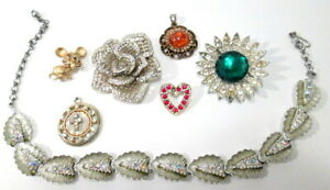 Vintage to Now Jewelry Lot Missing Stones for Repair Harvest Repurpose Crafts