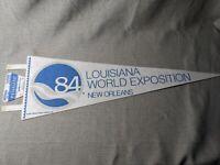 Vintage 1984 Louisiana World Exposition Pennant 25 Inch