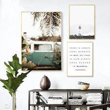 Cartel De Lona Paisaje de viaje de bus Océano nórdicos impresión arte de Pared Decoración de la sala de estar