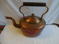 ANTIQUE SMALL GEORGIAN COPPER KETTLE WITH SWAN NECK HEIGHT 23 X 26 cm