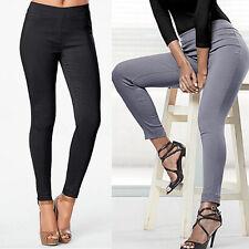 Women Autumn Slim Skinny High Waist Solid Casual OL Long Trousers Leggings Pants