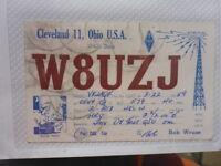 OLD VINTAGE QSL HAM RADIO CARD. CLEVELAND, OHIO. 1959