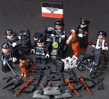 WW2 German SS Minifigure set of 6 Waffen SS  Army military World War two