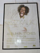 Krizz Kalico Genius Signed Poster Album In Stores 7-14-09 * Framed * Autographed