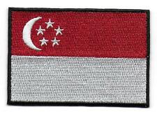 "Embroidered Singapore 3"" Flag Iron on Sew on Patch Badge HIGH QUALITY"