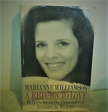 A RETURN TO LOVE Hardcover Reflections on Course in Miracles Marianne Williamson