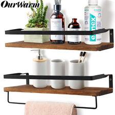 Wood Rustic Floating Shelf Wall Shelf Mounted Storage Shelves for Kitchen Home