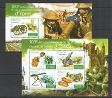 ST154 2015 GUINEA WORLD WAR I WWI 100TH ANNIVERSARY BATTLE OF YPRES 1KB+1BL MNH