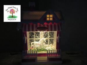 LED unicorn stables glitter lantern house waterball snow globe light night fairy