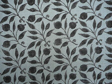 "William morris curtain fabric ""cynorrhodon"" 1 mètre noir/écru-mélange de lin"