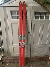 Vintage Kastle Slalom R Skis 215cm 1960s Rare Interior Decor Miller Marker