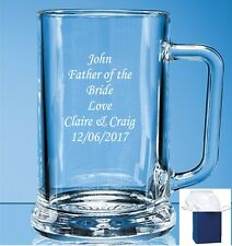 Personalised Engraved Beer Glass Tankard - Gift Engraving Any Occasion