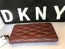 DKNY Donna Karan R3261060 Gansevoort Quilted Plum Leather Zip Around Wallet
