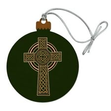 Celtic Christian Cross Irish Ireland Wood Christmas Tree Holiday Ornament