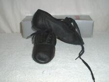 Girls Danshuz Split Sole Jazz Dance Shoes Black Leather Size 1.5M NIB