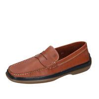 Chaussures Hommes TOD'S 39,5 Ue Mocassins Brun Cuir Bn23-39,5