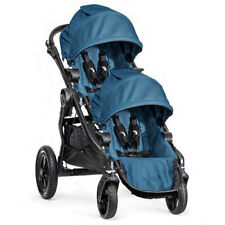 Baby Jogger City Select Double Stroller Teal on Black Frame, Open Box Brand New