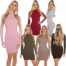 Long Sleeve Turtleneck Dresses for Women with Knit