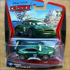 Disney PIXAR Cars 2 NIGEL GEARSLEY diecast #20 WORLD GRAND PRIX UK British racer