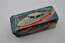 Rare! 1950s Schuco Cabino Cabin Cruiser Toy B/O Boat W/ Original Box No. 5511