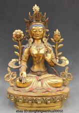 Chinese Buddhism copper bronze Bodhisattva Kwan-Yin White Tara Guan yin statue