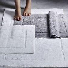 LUXURY 100% COTTON 875GSM BATH MAT SHOWER BATH MAT PLUSH ABSORBENT WHITE