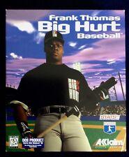 Frank Thomas Big Hurt Baseball Game PC,1996 CD-ROM Big Box Collector's CARD mint