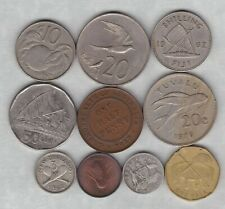 10 Oceania/Pacific Area Coins 1921 To 2009 In Good Fine Or Better Condition