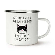 Crazy Cat Lady Derrière chaque grand homme est un grand chat 12 oz tasse en tasse Latte