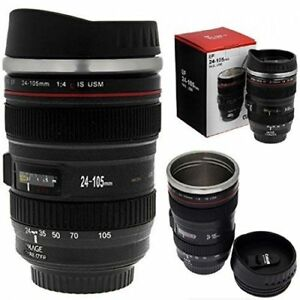 350ml Caniam Camera Lens Travel Mug Lens Cup Tea Mug Black