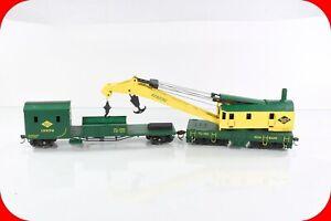 HO Scale RDG / Reading, MOW Work Crane & Tender Car, Bachmann - Knuckle Couplers