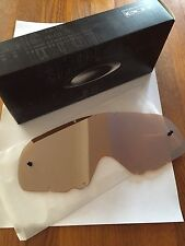 Oakley Crowbar Genuine Black Iridium Motocross Replacement Lens Free UK Post