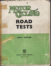 MOTOR CYCLING ROAD TESTS  : FIRST EDITION  1952  motor cycles Norton Vincent bb