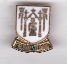 Yeovil Town ( mainly white ) - lapel badge brooch fitting