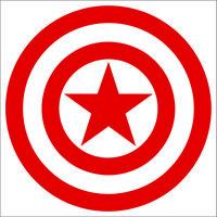 Captain America Decal / Sticker - Choose Size & Color - Marvel Avengers