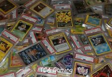 5x PSA Graded POKEMON Cards -  RANDOM!  WOTC, FULL ARTS, GX's, Promos + More !!!