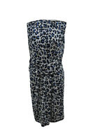 ** Gerard Darel ** Animal Print Dress ** 42 ** Blue ** Silk & Cotton **
