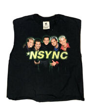 Vtg 1998 N Sync concert pop band tour black Winterland Cropped Women's Shirt