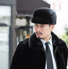 Winter men Real New Mink Fur Hat Cap Headgear Beanie Beret QS 00044.1